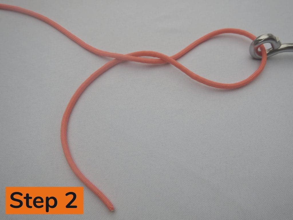 Clinch Knot Step 2
