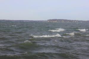 A Choppy Lake on a Windy Day