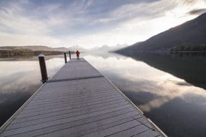 """""""On the Dock at Lake McDonald 4.12.16"""" by GlacierNPS is marked with CC PDM 1.0"""